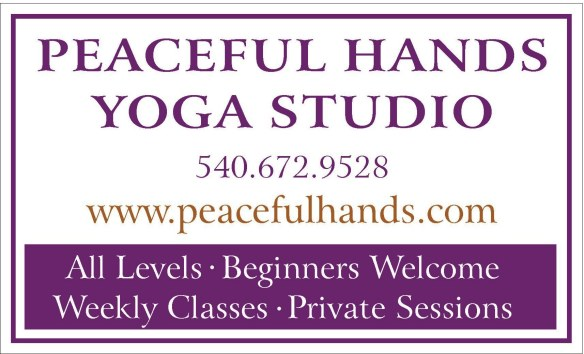 peaceful hands yoga sign