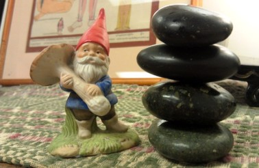 Gnome with a Stone